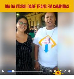 Dia da visibilidade trans em Campinas.