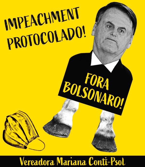 Impeachment protocolado: Fora Bolsonaro!