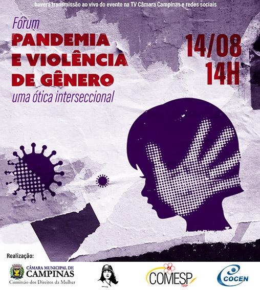 Pandemia e Violência de Gênero é tema de debate entre instituições e movimentos sociais no dia 14.