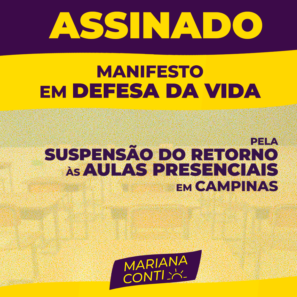 Mariana Conti assina Manifesto em Defesa da Vida